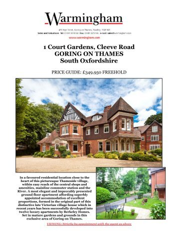 1 Court Gardens, Cleeve Road GORING ON ... - Warmingham