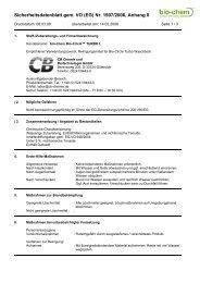 Sicherheitsdatenblatt gem. VO (EG) Nr. 1907/2006 ... - Bio-Circle