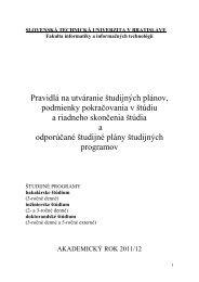 Študijné programy 2011/12 - FIIT STU - Slovenská technická ...