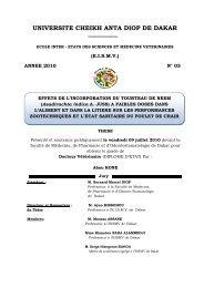Effets de l'incorporation du tourteau de neem (Azadirachta ... - BEEP