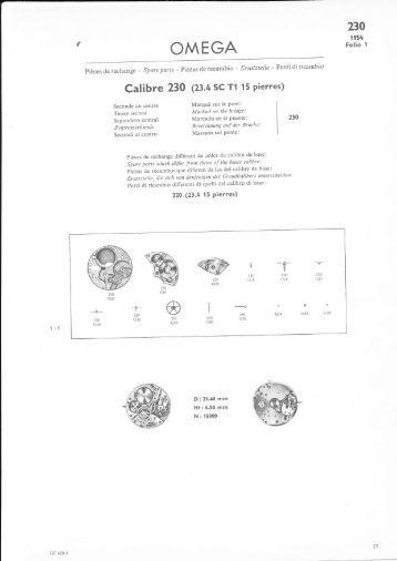 Calibre 230 (8.4 sc r1 15 Pierres) - Cousins UK