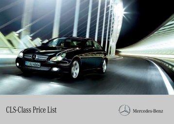 CLS-Class Price List