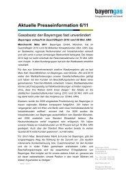 Download der Pressemitteilung - Bayerngas GmbH