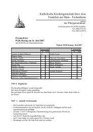 Protokoll der PGR-Sitzung am 14. Juni 2007 - Herz Jesu Fechenheim