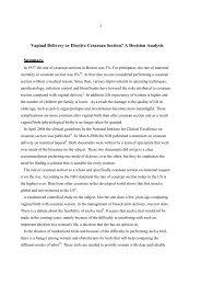 Vaginal Delivery or Elective Cesarean Section? - Hadassah Medical ...