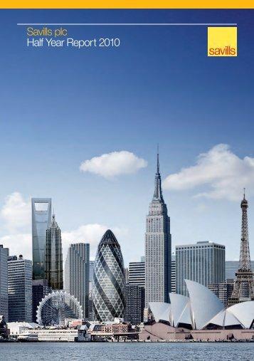 Savills plc Half Year Report 2010 - Investor relations