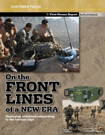 On the front lines - Harris RF Communications
