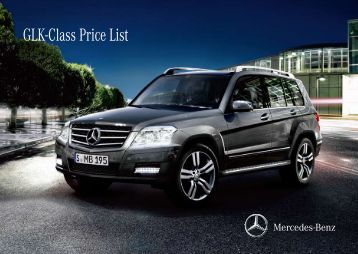 GLK-Class Price List