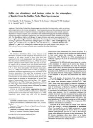 Noble gas abundance and isotope ratios in the atmosphere of ...