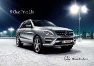 M-Class Price List