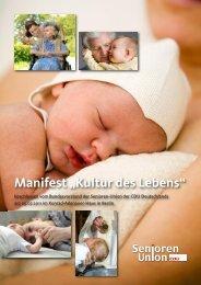 "Manifest ""Kultur des Lebens"" - Senioren-Union Leipzig"