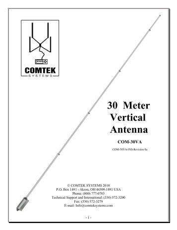 30 Meter Vertical Antenna - DX Engineering