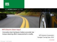 MTS Electric Steer Input - Automotive Testing Expo