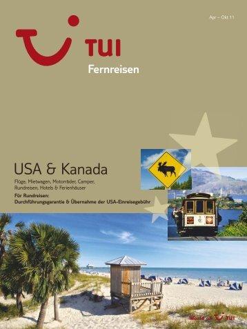 TUI - Fernreisen: Amerika - Sommer 2011 - Paradise Coast