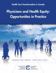 Canada - Physicians and Health Equity: Opportunities in Practice