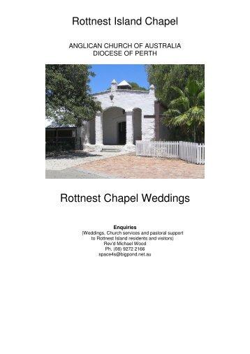 Rottnest Chapel Weddings - Rottnest Island