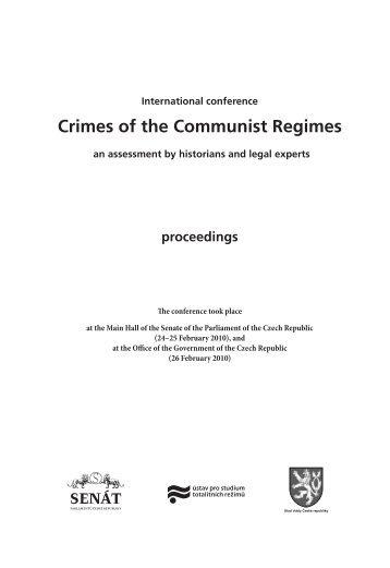International conference Crimes of the Communist Regimes, Prague ...