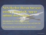 Mappler Tutorial - New Jersey Audubon Society