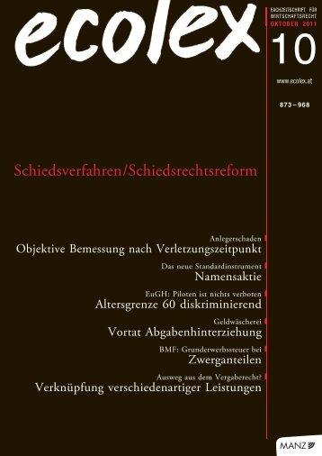 ecolex 2011, 876 - Universität Wien
