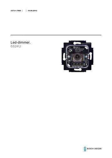Led-dimmer. 6524U - BUSCH-JAEGER Katalog
