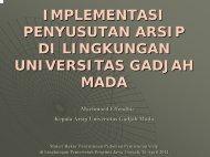 Implemetasi Penyusutan Arsip di UGM - Arsip UGM - Universitas ...