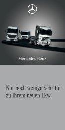 Broschüre für Lkw-Abholer (1632 KB, PDF) - Mercedes-Benz Schweiz