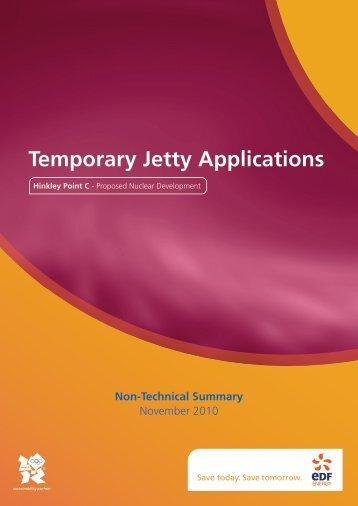 Jetty Non Technical Summary - EDF Hinkley Point