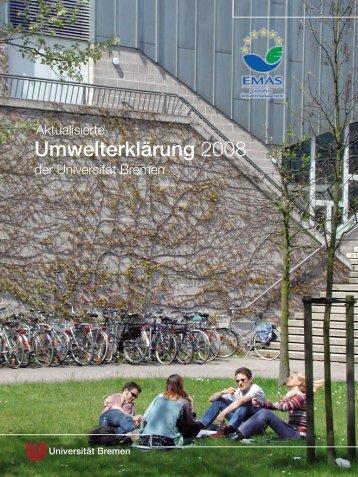 Umwelterklärung 2008 - Ums Uni Bremen - Universität Bremen