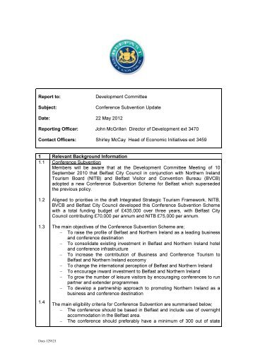 Conference Subvention Update PDF 37 KB - Meetings, agendas ...