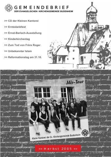 Herbst - Evangelische Kirchengemeinde Budenheim