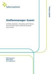 Verkkojulkaisu: Stoffenmanager-Suomi - Työterveyslaitos