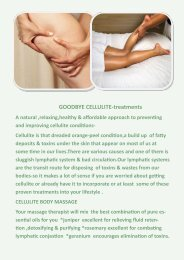 GOODBYE CELLULITE-treatments - Face Body