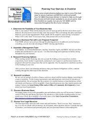 Planning Your Start-Up: A Checklist