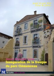 Inauguration de la fresque du parc Clémenceau - Montpellier