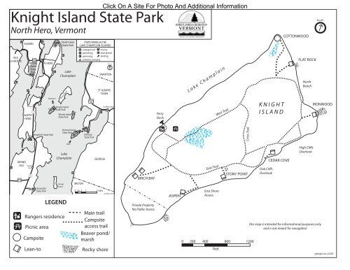 Knight Island State Park Interactive Campground Map & Guide