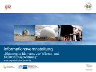 GIZ - Exportinitiative Erneuerbare Energien - BMWi