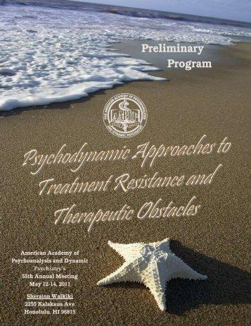 Preliminary Program - Psychiatric Times