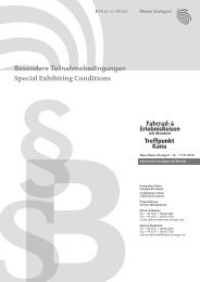 Besondere Teilnahmebedingungen Special Exhibiting Conditions