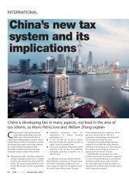 China's new tax system and its implications