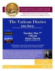 The Vatican Diaries - Church of St. Francis Xavier