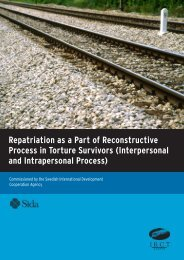 Repatriation as a Part of Reconstructive Process in Torture Survivors ...
