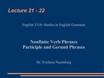 Nonfinite Verb Phrases