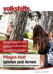 Pflegen statt spielen und lernen - Volkshilfe Österreich