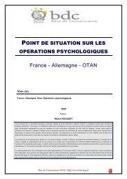 Point sur les opérations psychologiques - Base de connaissance ...