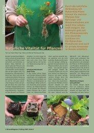 Natürliche Vitalität für Pflanzen - Birseck Magazin