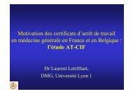 Motivation des certificats d'arrêts de travail en médecine ... - ctnerhi