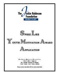 SPIKELEE - The Jackie Robinson Foundation