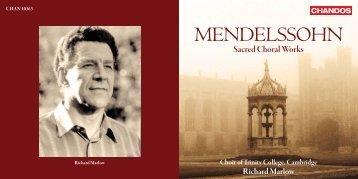 MENDELSSOHN - Chandos