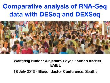 Comparative analysis of RNA-Seq data with DESeq and ... - EMBL