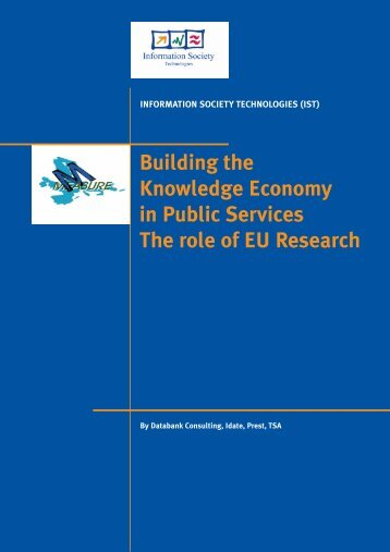 Building the Knowledge Economy in Public Services - Manchester ...